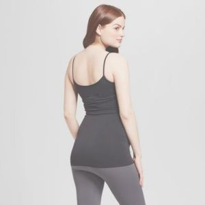 Isabel Maternity by Ingrid & Isabel Tops - Maternity Seamless Cami Black M/L